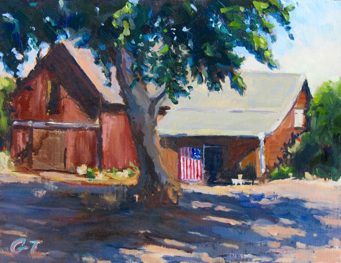 Gail Thelin, Old Glory, Oil on canvas