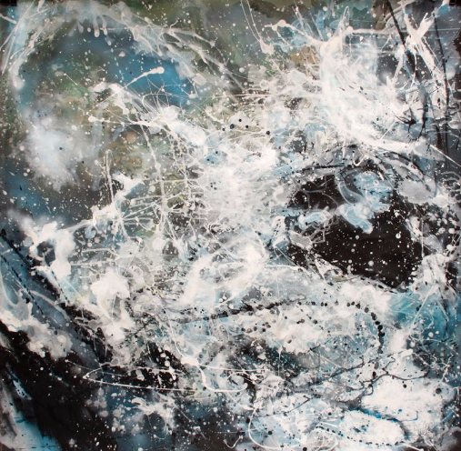 Adele Shaw, Moving Water 2, Mixed media