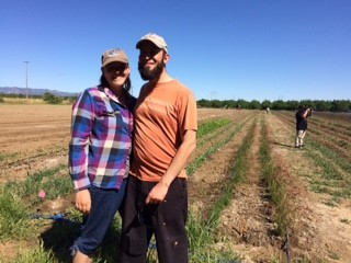 Aubrianne and Cal Zamora, Farmers