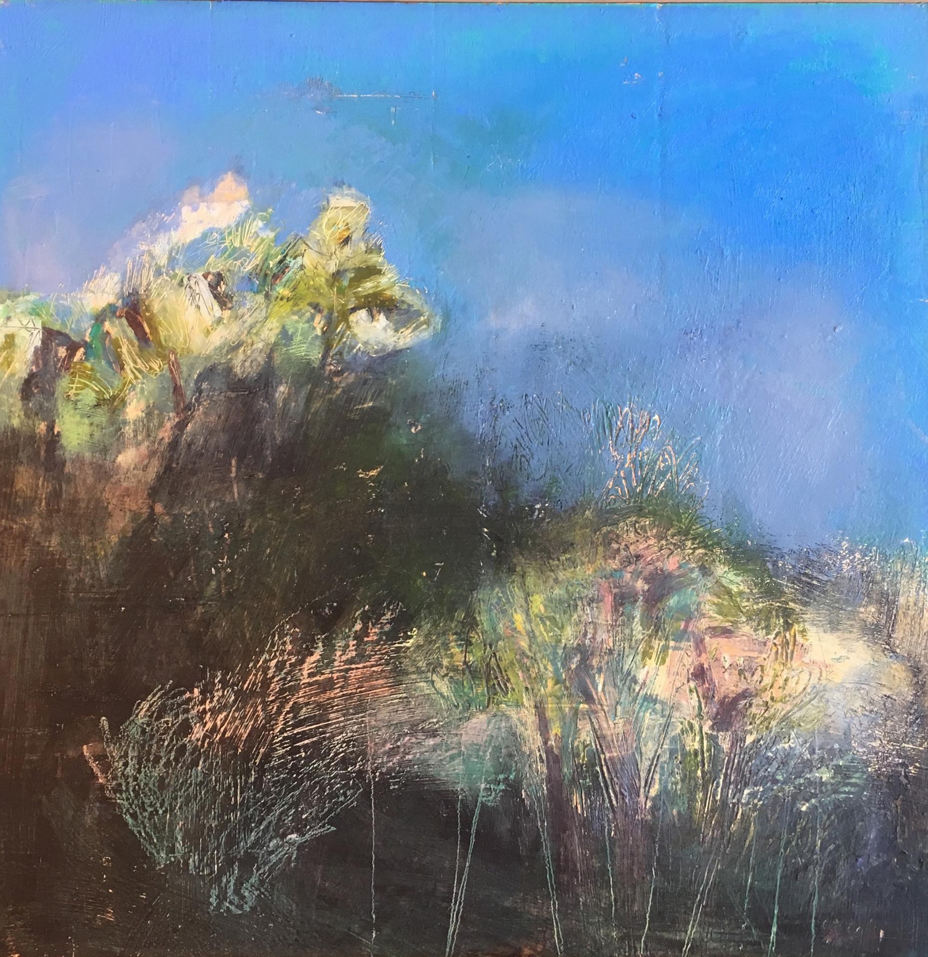 Sara Post, Windbreak 1 oil/wax/pigment stick 18 x 18 x 2