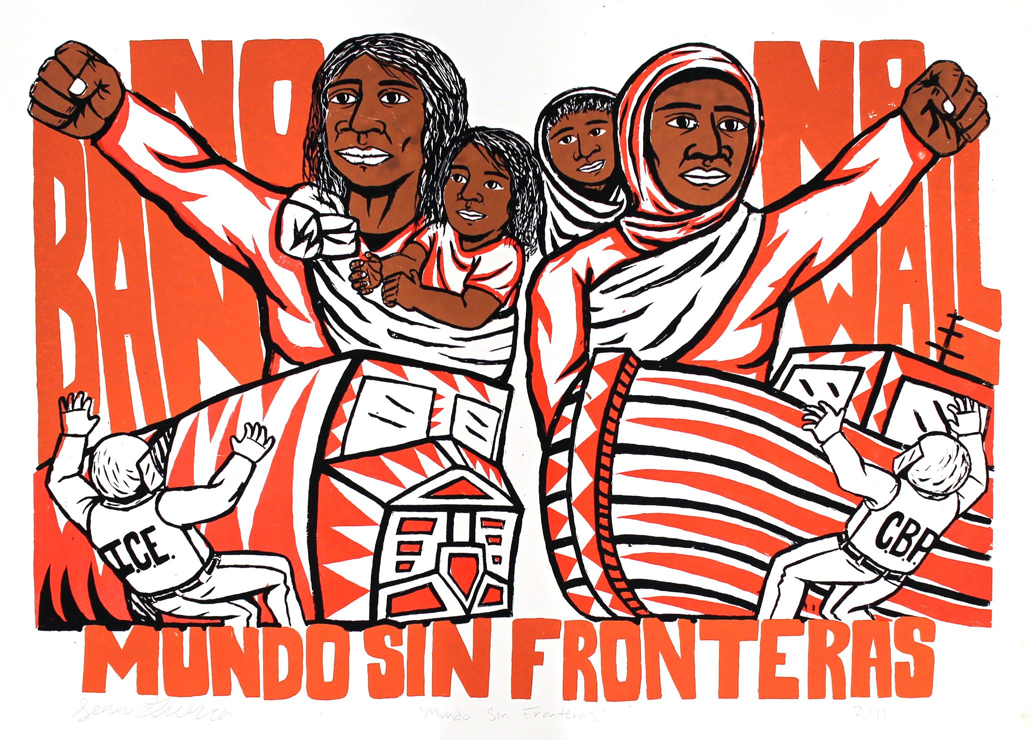 Mundo Sin Fronteras, Sean Guerra, Silkscreen Print