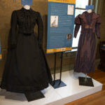 1880 – Black satin two piece dress: Satin, beading, and lace Donated by Alice Jane Gipner YO1-C142-04 A,B