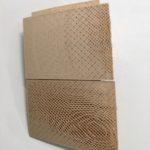 "Maria Paz Gutierrez, Criznejas 2, 3D printed Bamboo, waste, and PLA assembled panel, 27"" x 27"" x 4"", 2020"