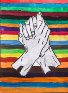 """PEACE"", CHRIS VIDALES, GRADE 11, MIXED MEDIA"