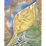 """Chinese Tallow Leaf III  Watercolor (Giclée Print LE 1/60) 5"""" x 7""""  2011"""