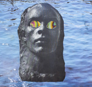 """WATER FACE"", DANNY FLORES, GRADE 10, COLLAGE"