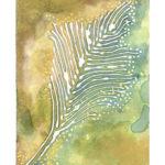 "Feather Leaf Tree II Watercolor (Giclée Print, LE 1/60) 5"" x 7"""