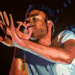 """Acting Childish"" (Childish Gambino) - Acrylic on Canvas- 11"" X 14"" – 2019"