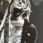 """Remove this Darkened Veil (Kurt Cobain) "" - Acrylic on Canvas - 14""X 18"" – 2020"