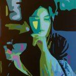 """""""Tea with my Ancestors"""" - Acrylic on Canvas - 10"""" X 12"""" – 2020"""