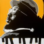 """""""In Between the Keys"""" (Thelonious Monk) - Acrylic on Canvas- 10"""" X 12"""" – 2020"""