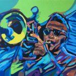 """""""Jazzamatazz"""" (Roy Grove) - Acrylic on Canvas- 16"""" X 20"""" – 2018"""