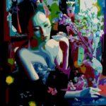 """Harmony in a Blossom Room"" - Acrylic on Canvas- 16"" X 20"" - 2018"