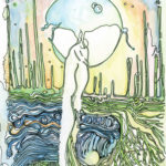 """Moon Root  Watercolor and ink 7.5"""" x 10"""""""