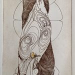 """Motherland Intaglio etching (Limited Edition – 7/20) 6.5"""" x 15"""""""