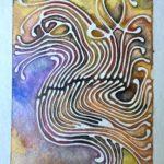 """Tendrils  Watercolor 5"""" x 7"""""""