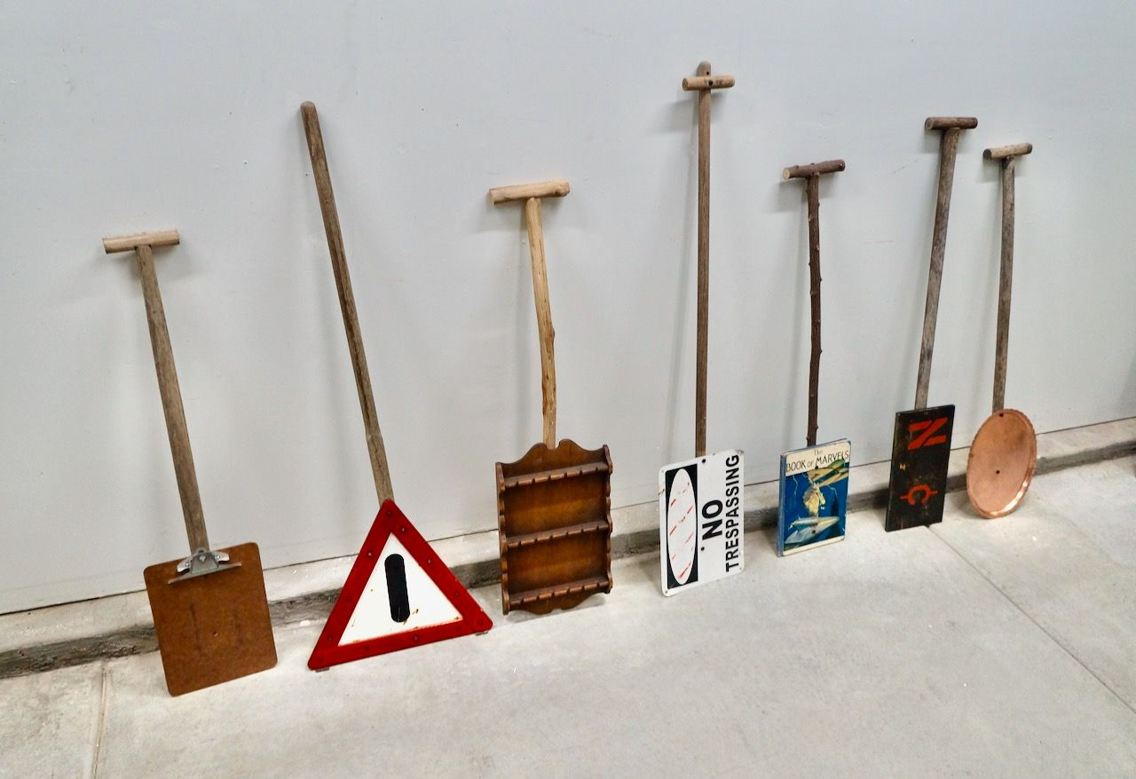 Oars, Wood and found objects, Steve Briscoe
