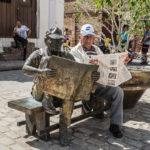 """David Kalb, The Morning Paper (Camaguey, Cuba), 16""""x20"""", $235"""