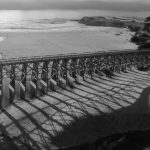 "Mark Jones, Pudding Creek Bridge at Sunset, Drone photograph on metal, 16""x24"""
