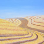 "Barley Stubble, Montezuma Hills (Solano County), Acrylic on canvas, 20"" x 30"""
