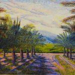 "Date Palms in Coachella Valley, California, Acrylic on canvas, 24"" x 30"""
