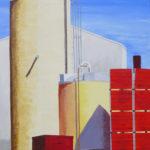 """Goodby, Olam (Colusa County), Acrylic on canvas, 40"""" x 30"""""""