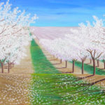 """Hilltop View (Yolo County), Acrylic on canvas, 30"""" x 40"""""""