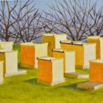 "Hooray for Bees (Yolo County), Acrylic on canvas, 16"" x 20"""