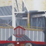 "Loading the Grain (Yolo County), Acrylic on canvas, 30"" x 20"""