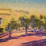 """Olive Orchard near Beni Mekkoud, Morocco, Acrylic on canvas, 22"""" x 28"""""""