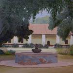 "Olives, Mission La Purisima Conception, Lompoc  (Santa Barbara County), Acrylic on canvas, 20"" x 30"""