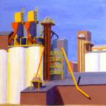 "Rice Mill, Woodland, Acrylic on canvas, 24"" x 18"""