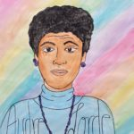 """Kate Mellon-Anibaba, Audre Lord, Watercolor mounted on cardboard, 30""""x31"""", NFS"""