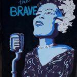"Anya McCann, Billie Holiday, Acrylic on cardboard, 29.5""x29"", NFS"