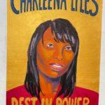 "Ruth Santer, Charleena Lyles, Acrylic on cardboard, 24.5""x40.5"", NFS"