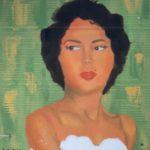 "Hisani Stenson, Dorothy Dandridge, Oil on cardboard, 21""x24"", NFS"