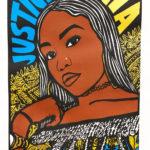 "Gilda Posada, Justice for Nia Wilson, Screenprint on paper, 23.5""x17.5"", NFS"