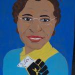 """Anya McCann, Rosa Parks, Arcylic on cardboard, 31""""x47"""", NFS"""