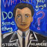 "Danielle Fodor, Storme Delarverie, Watercolor on cardboard, 25""x28"", NFS"
