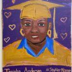 "Danielle Fodor, Tanisha Anderson, Acrylic on cardboard, 24""x35"", NFS"
