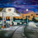 """Patrick Cosgrove, 76 Station, Oil on canvas, 48""""x24"""", $1900"""