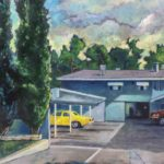 """Patrick Cosgrove, Fuller House Apartments, Oil on canvas, 30""""x40"""", $1900"""