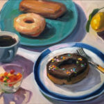 """Polly LaPorte, Dig In!, Oil on canvas, 16""""x20"""", $700"""