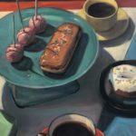 "Polly LaPorte, In Orbit, Oil on canvas, 20""x24"", $900"