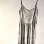 """Natalie Nelson, Slip Dress, Charcoal, 24""""x20"""" framed, $300"""