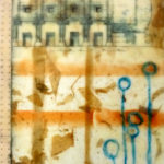 """Building II, Encaustic, collage, mixed media, 10"""" x 12"""", $280"""