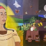 Students in ART 171: Mexican & Chicanx Mural Workshop at UC Davis, Professor: Jose Arenas, NFS
