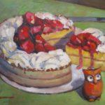 "Robert Gonsowski, CAke Keeper, 16""x20"", Oil on canvas, $640"