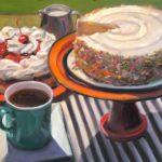 """Polly LaPorte, Cake-a-thon, 16""""x20"""", Oil on canvas, $640"""