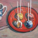 "Robert Gonsowski, Cakepop Combo, 16""x20"", Oil on canvas, $640"